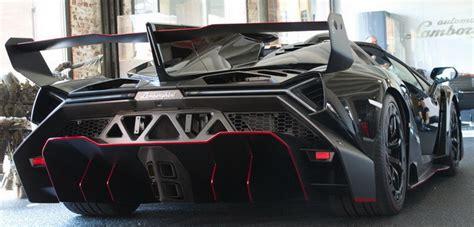 lamborghini veneno back lamborghini veneno roadster black carbon