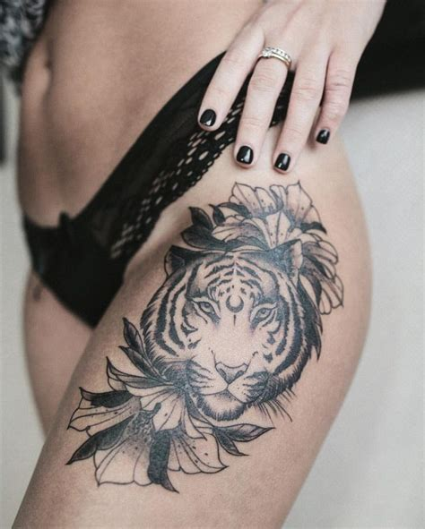 tiger thigh tattoo designs best 25 tiger thigh ideas on tiger