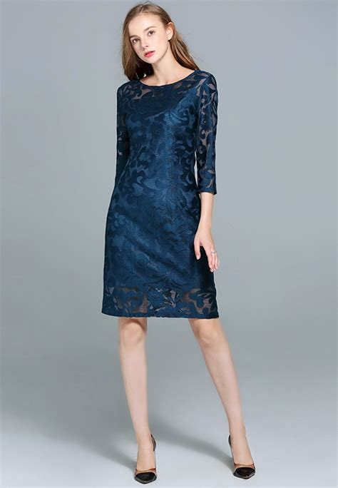 3 4 Sleeve Lace Dress 3 4 sleeve lace plus size dress plus size clothes