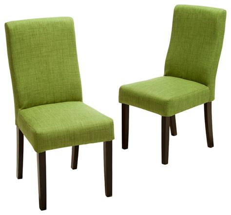 Green Fabric Dining Room Chairs Heath Fabric Dining Chairs Green Set Of 2 Contemporary