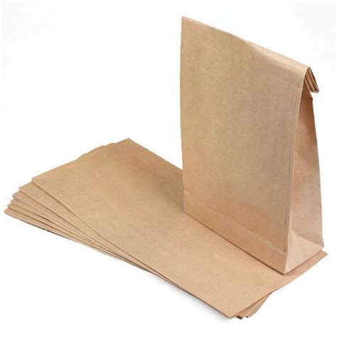 How To Make Small Paper Bag - 10 brown grocery paper bags 5 a day