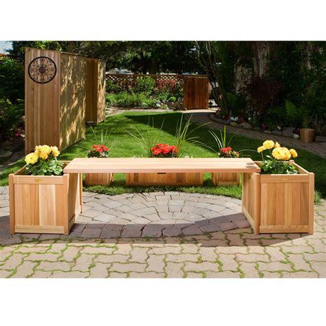 fill  garden bench  planter boxes