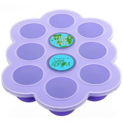 Silicone Freezer silicone baby food freezer tray with clip on