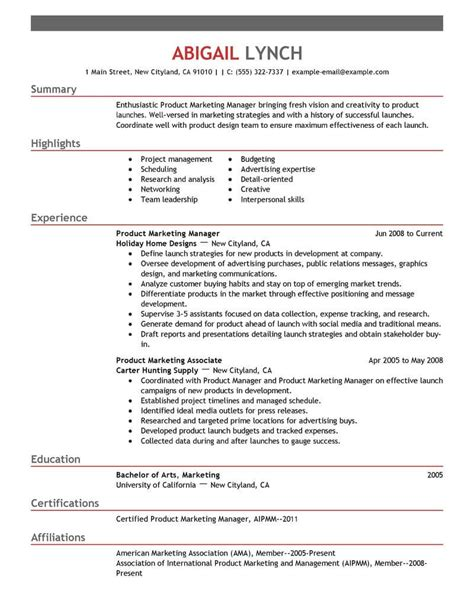 free resume format for mba marketing top mba resume sles exles for professionals livecareer