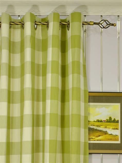 extra long grommet curtains moonbay checks grommet cotton extra long curtains 108 inch