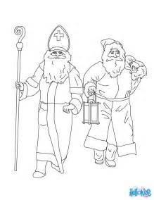 santa claus amp saint nicholas coloring pages hellokids com
