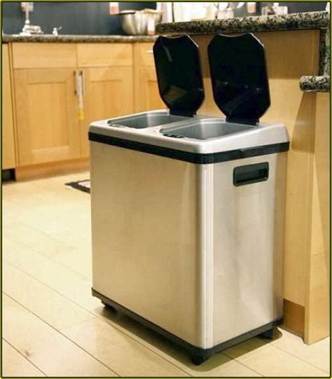 kitchen trash can ideas hidden kitchen garbage cans home design ideas