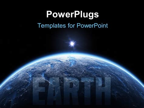 powerpoint themes universe powerpoint template view of the earth surface from the