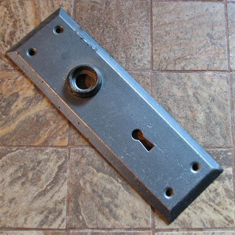 Door Knob Escutcheon Plate vintage door knob plate doorknob escutcheon no 2 by