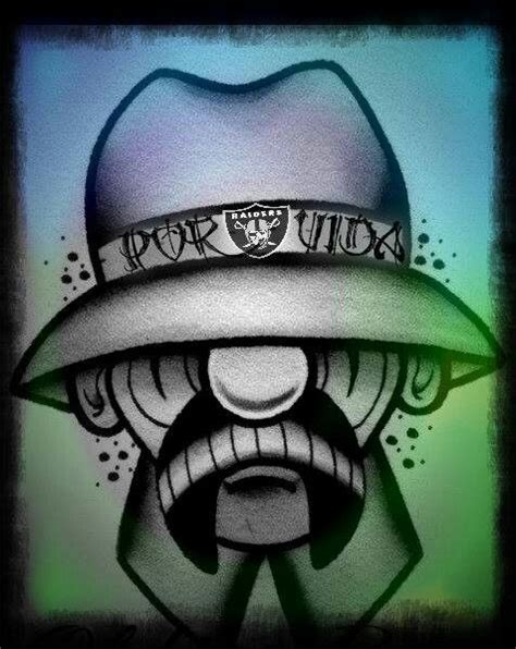 vato loco tattoos raiders on