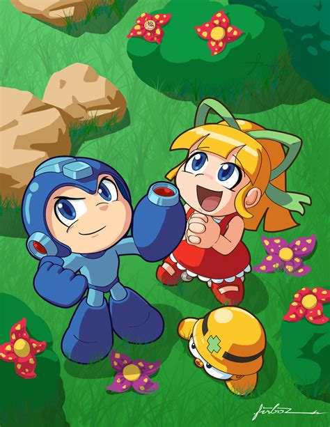 megaman and roll dayout by furboz on deviantart