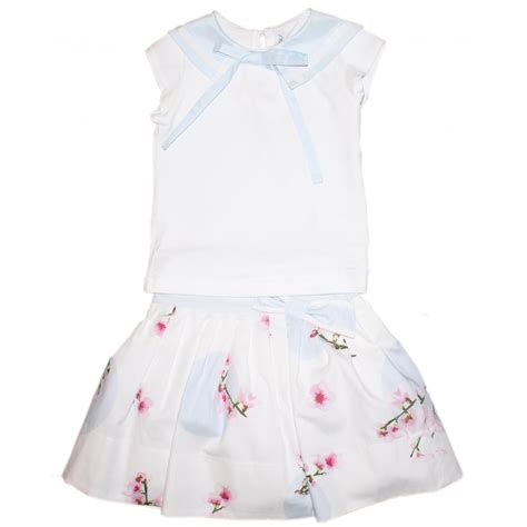simonetta white blue top skirt