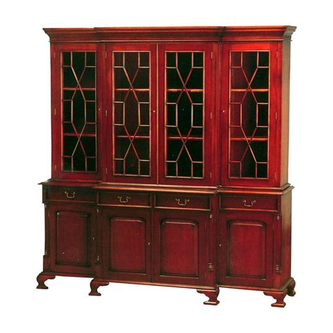 entryway bookcase bc 045 georgian breakfront 4 door bookcase mahogany by