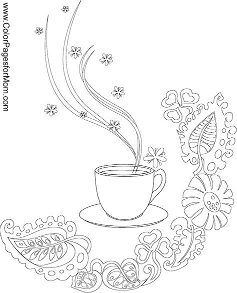 coffee cup adult coloring pages coloring pages
