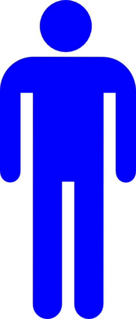boys bathroom sign blue restroom man clip art at clker com vector clip art