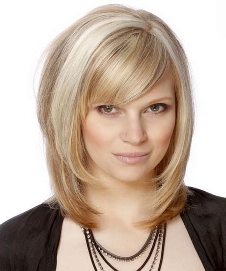 medium haircuts with side bangs