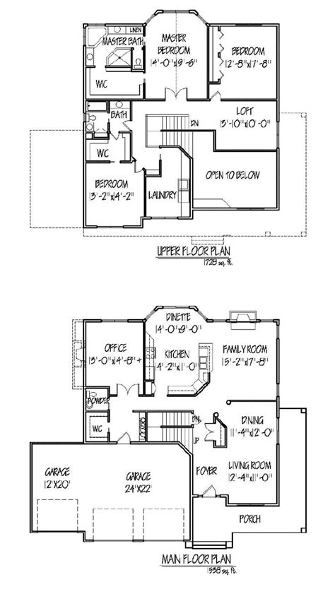 2 story house plans master bedroom downstairs 1000 ideas about two story houses on pinterest
