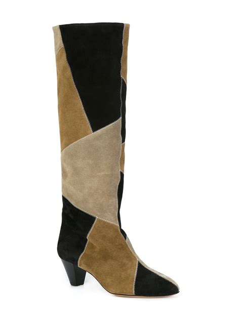 Patchwork Boots - shop marant ross patchwork boots at modalist