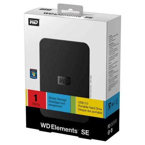 Wd Element 1tb 2 5 Usb 3 0 Hitam western digital elements se 1tb 2 5 quot usb3 0 ta蝓莖nabilir