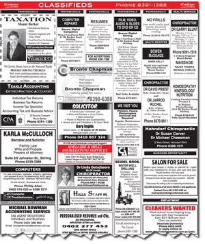 Classified Section Of Newspaper by Classified Advertising The Courier News
