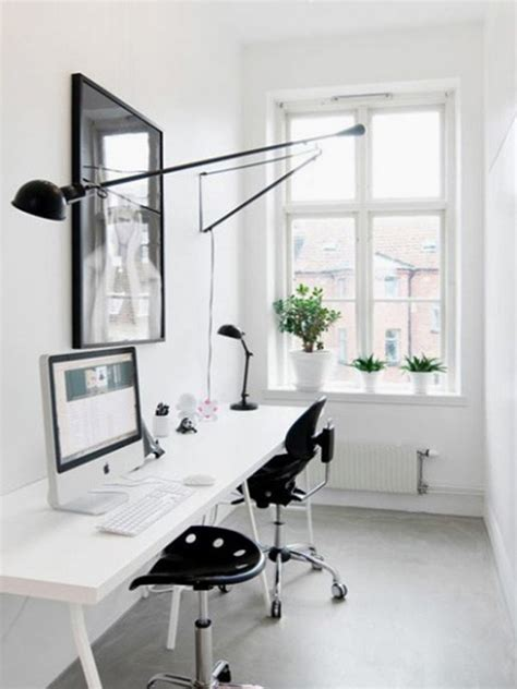 white home office minimalistand small home office ideas