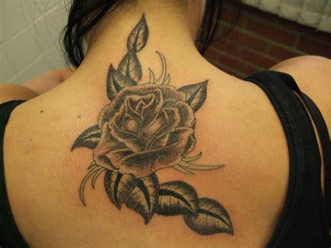 scorpion and rose tattoo neck by black scorpion tattoos