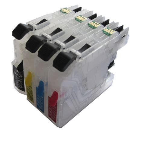 chip resetter für brother druckerpatronen lc235 lc237 lc233 bk c m y refillable ink cartridge for