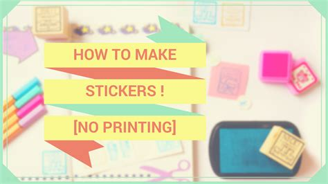 Paper To Make Stickers - diy how to make stickers with scrap paper no printing