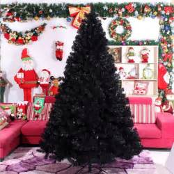 decorated black christmas tree designcorner
