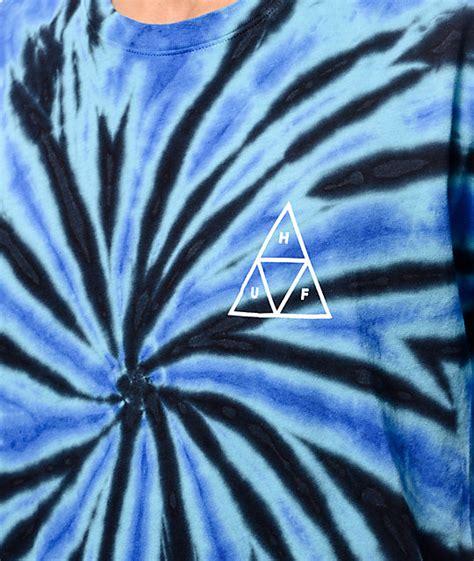 Huf Triangle Blue 01 huf triangle blue tie dye t shirt zumiez