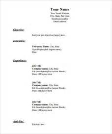 Resume Downloadable Templates by 40 Blank Resume Templates Free Sles Exles