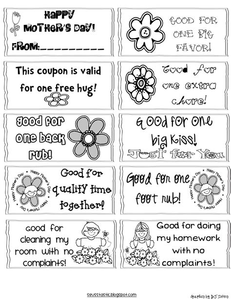 printable mother s day coupon book template mother s day gift and craft ideas miscellaneous nerd