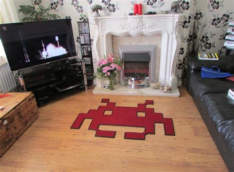 space invaders rug space invaders rugs drop my technabob