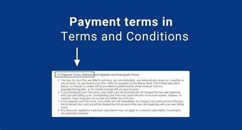 payment terms and conditions template payment terms in terms conditions termsfeed