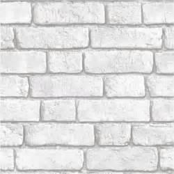 Paper Blinds Temporary Muriva Bluff White Brick Effect Embossed Blown Vinyl