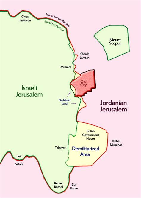 jerusalem israel map jerusalem capital of israel map