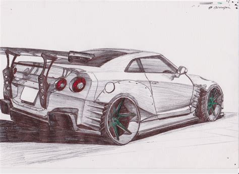 nissan skyline drawing nissan r35 bensopra by erithdorpl on deviantart