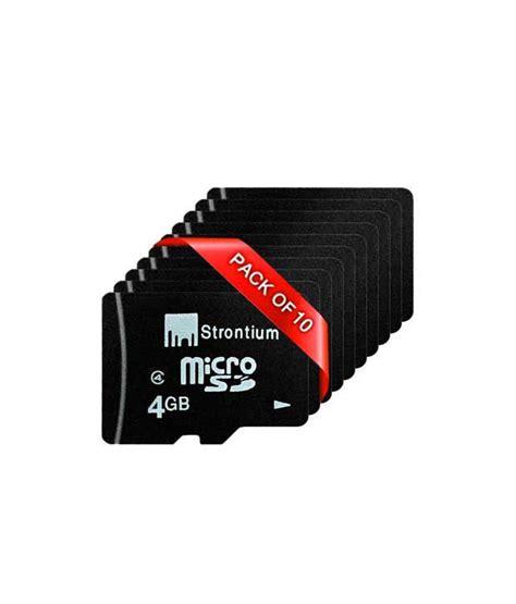 Microsd Vgen 4gb Class 6 strontium 4gb microsd class 6 pack of 10 memory cards