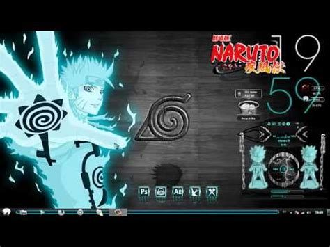 themes naruto shippuden windows 7 naruto shippuden 2012 light blue theme windows 7 youtube