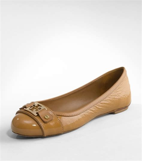Flat Shoes 338 125 1 lyst burch patent clines ballet flat in brown