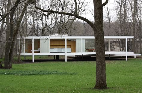 mies van der rohe farnsworth house plan philip johnson s glass house 1949