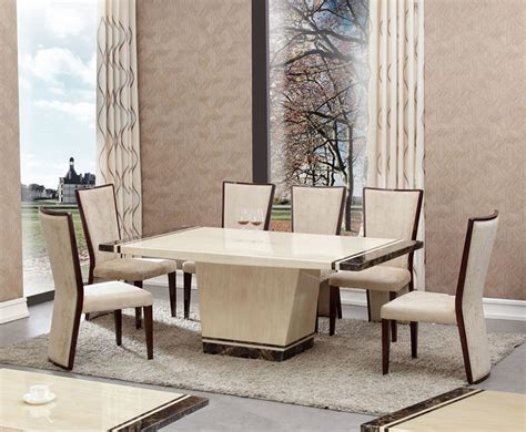 Dining Table And Chairs Marble Marble Effect Dining Table And Chairs