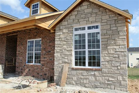 stone siding for house our new home the exterior brick stone and siding