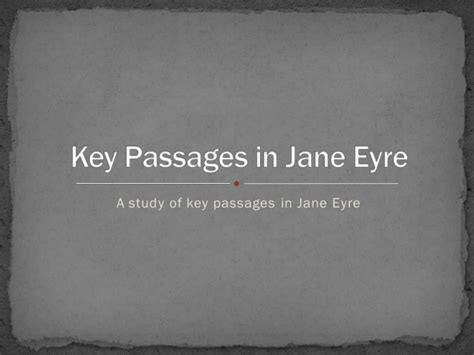 jane eyre analysis of nature themes key passages in jane eyre