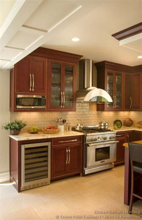 kitchen ideas with cherry wood of kitchens traditional wood cherry color