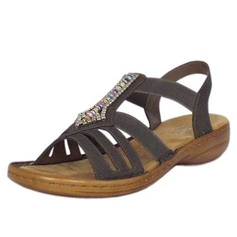 comfortable and stylish sandals rieker queens women s comfortable sandals in grey mozimo