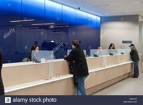 Citi Bank Teller by Teller Stations In The Citibank New Flagship High Tech Branch In The Stock Photo Royalty Free