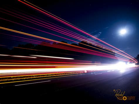 Licht Auto by Light Trail The Moon This Is At At