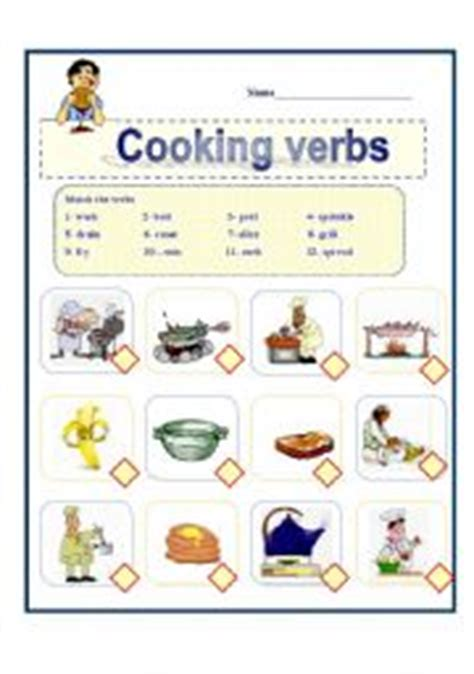 Zero Lot House Plans by Esl Worksheets For Beginners Cooking Verbs