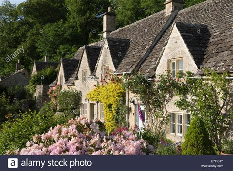 cotswold cottages and summer garden bibury cotswolds